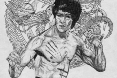Bruce Lee from a painting by -Achilleos-