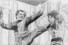 Lee vs Han in Enter the Dragon